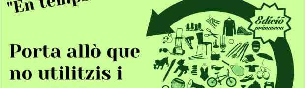 Mercat d'intercanvi a Reus, el dissabte 8 de juny d'11 a 14h a la plaça de la Patacada