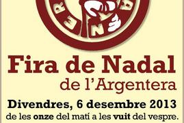 6 Desembre a l'Argentera: Fira de Nadal per artesans.