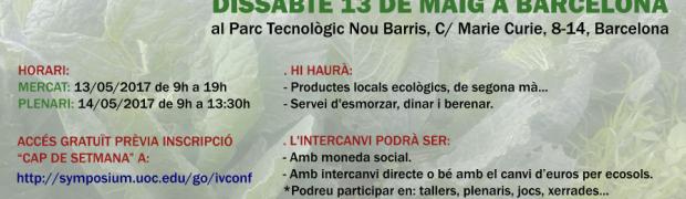 [10-14 Maig_Barcelona] IV Conferència Internacional de Monedes Socials i Complementàries.  #SocialCurrencyUOC
